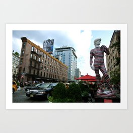 Posing in the Meatpacking District Art Print