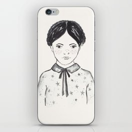 A little girl and the stars iPhone Skin