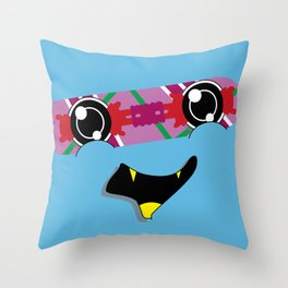 FUTURE feat. Back To The Future (Original Character Art) Throw Pillow