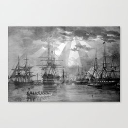Civil War Ships of the United States Navy Canvas Print