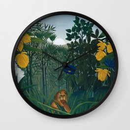 The Repast of the Lion Wall Clock