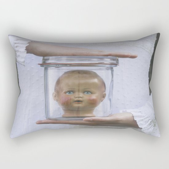 Doll in a jar Rectangular Pillow