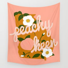 Peachy Keen Wall Tapestry