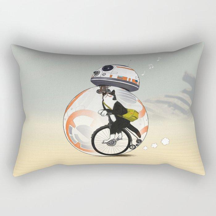 CAT INSIDE DROID Rectangular Pillow