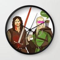 aragorn Wall Clocks featuring What I miss? by tokidokiloki