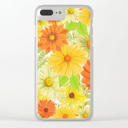 Daisy Collage Clear iPhone Case