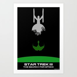 Trek III: The Search for Spock Minimalist Poster Art Print