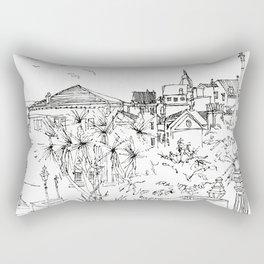 Minimal Line Settlement 3 Rectangular Pillow