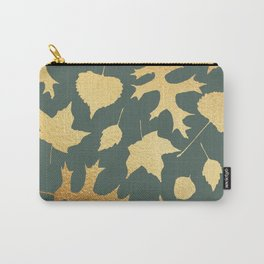 Autumn Elements Pattern (Gold&Sage) Carry-All Pouch