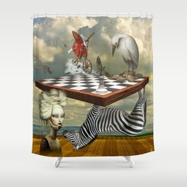 Zebra Upside Down Shower Curtain