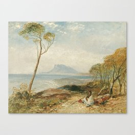 Maria Island From Little Swanport Van Diemen's Land by John Skinner Prout Canvas Print
