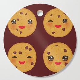 Kawaii Chocolate chip cookie Cutting Board