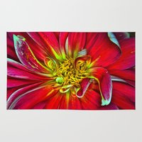 dahlia Area & Throw Rugs featuring Dahlia by Christopher Richards