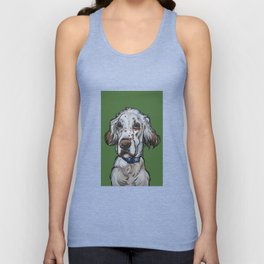 Ollie the English Setter Unisex Tank Top