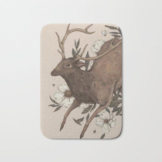 Floral Elk Bath Mat