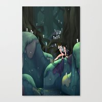 princess mononoke Canvas Prints featuring Princess Mononoke by IllustrateKate