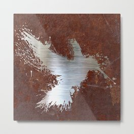 Hummingsplat Rusty Metal Print