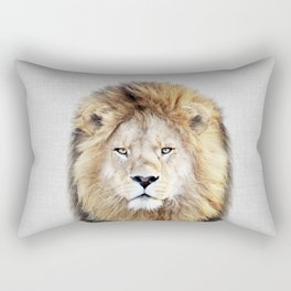 Lion 2 - Colorful Rectangular Pillow