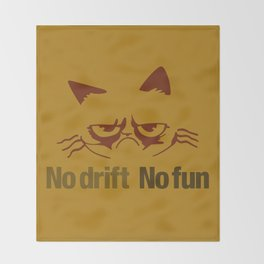 No drift No fun v3 HQvector Throw Blanket