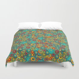 My doodling. Colorful ornamental circles. Duvet Cover