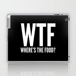 WTF Where's The Food (Black & White) Laptop & iPad Skin