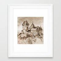 castle Framed Art Prints featuring Castle by Bunny Noir