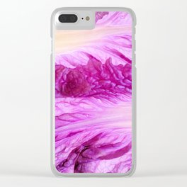 Purple Cabbage Beautiful Abstract Patterns By Nature Clear iPhone Case
