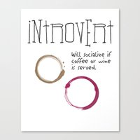 introvert Canvas Prints featuring Introvert by Denise Hayes