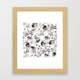 Whimsical flowers Framed Art Print