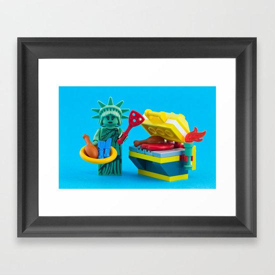 Happy Independence Day Framed Art Print