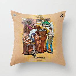 The Fantastic Craft Coffee Contraption Suite - The Bean Counters Throw Pillow