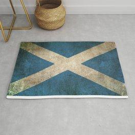 Old and Worn Distressed Vintage Flag of Scotland Rug