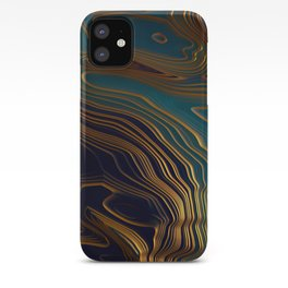 Peacock Ocean iPhone Case