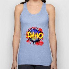 Idaho Comic Exclamation Unisex Tank Top