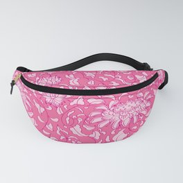 Chinoiserie Vines in Berry + Pink Fanny Pack
