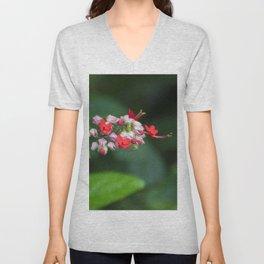 Floral Print 081 Unisex V-Neck