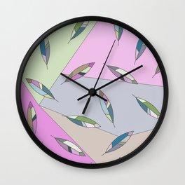Geometric Feathers pattern Wall Clock