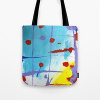 cage Tote Bags featuring Cage by Ink and Paint Studio