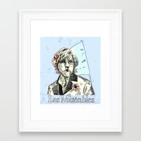 les mis Framed Art Prints featuring Enjolras Les Mis Poster by Pruoviare