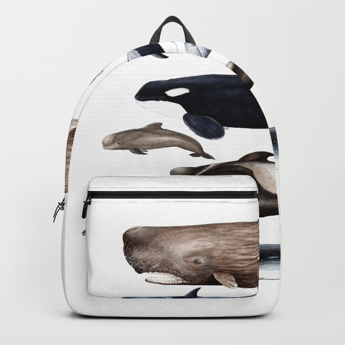 Atlantic whales, dolphins and orca Backpack