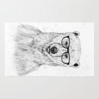 geek Area & Throw Rugs featuring Geek bear by Balazs Solti
