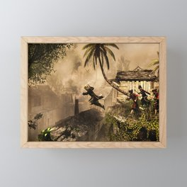 Ezio Video Game Framed Mini Art Print