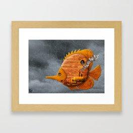 Steampunk Butterflyfish II Framed Art Print