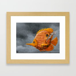 Steampunk Butterflyfish II Framed Art Print