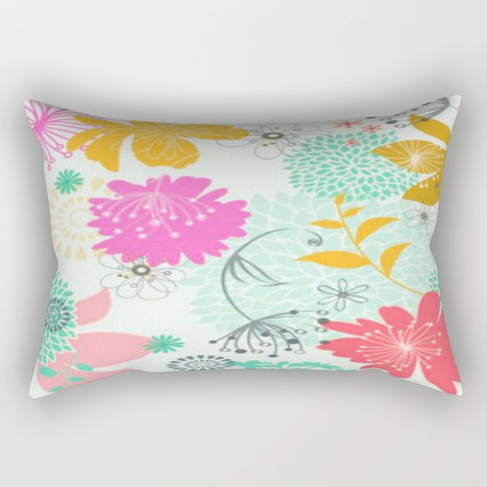 Floral vector pattern best idea Rectangular Pillow