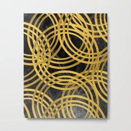 Gold Circles Metal Print