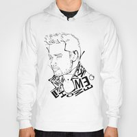 liam payne Hoodies featuring Typographic Liam by Ashley R. Guillory