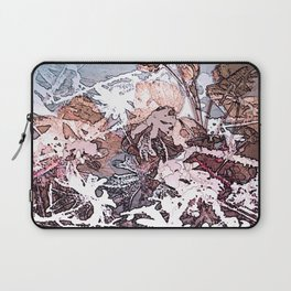 Frosty Transformation to Winter - An abstracted impression Laptop Sleeve