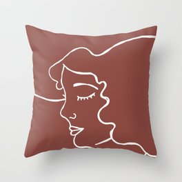 Cowgirl Line Art Throw Pillow