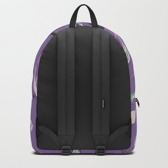Silky Lavender Greenery Leaves Backpack